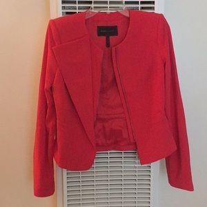 poppy pink blazer with zipper